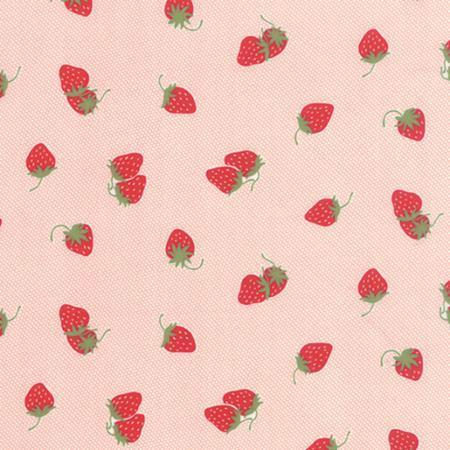 Moda Hello Darling - Strawberries in pink