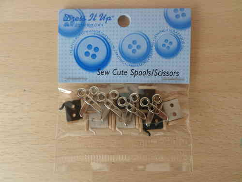 Sew Cute Spools/ Scissors Buttons