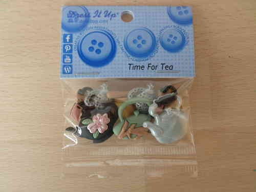 Time for tea Buttons