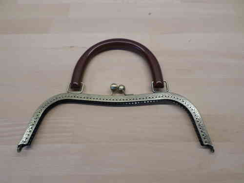 Metal Clasp with wood handle 10.43  (26.5cm)