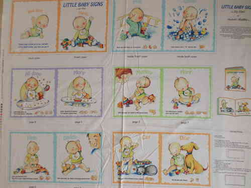 Baby Book Panel Fabrics 100% Cotton