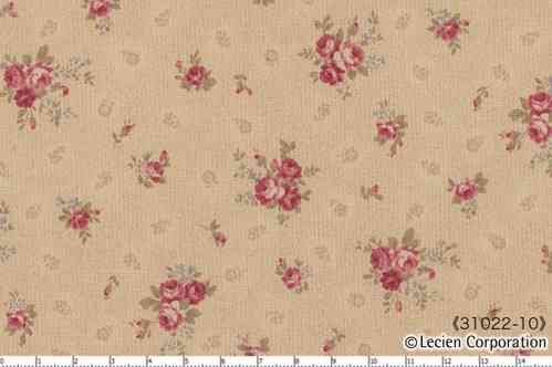 Floral Collection Antique Rose , BEIGE
