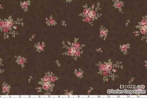 Floral Collection Antique Rose, BROWN