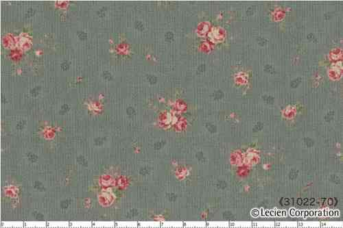 Floral Collection Antique Rose , BLUE