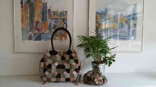 Download pattern - Spring Time Lady Bag and cosmetic bag