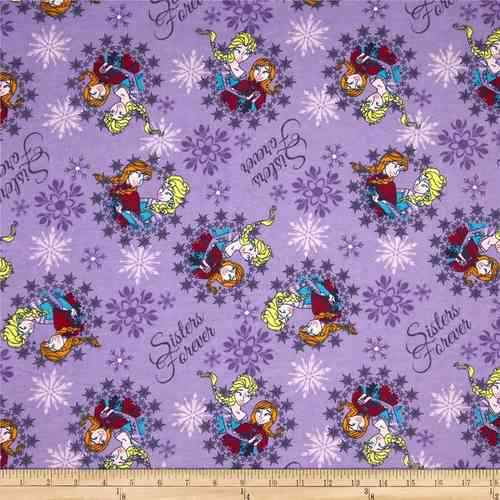 Disney Flannel Frozen - purple