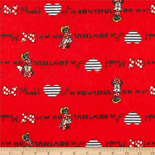 Disney Flannel Minnie - Red