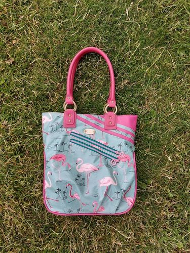 Flamingo summer tote bag