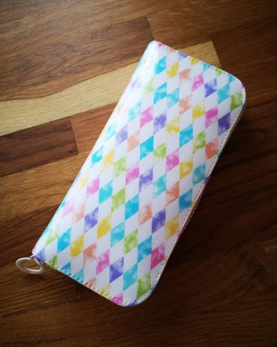 Rainbow diamond long wallet