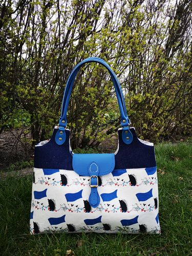 Little hedgehog double tote bag